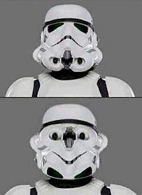 Happy Upside Down Storm Trooper