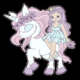 Princess Unicorn Clipart png