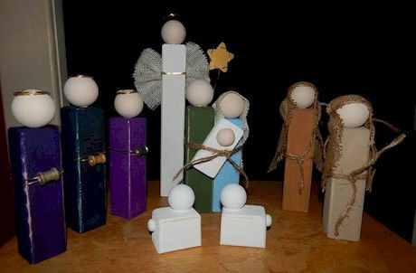 Wood Nativity Scene Craft