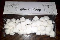 Ghost Poop Halloween Treat
