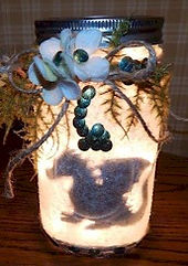 Lighted Dragon Silhouette Mason Jar