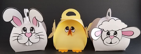 Curvy Keepsake Box Easter Animals