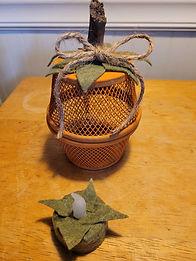 Dollar Tree Paper Clip Holder Pumpkin
