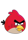 Red Angry Bird Clipart