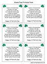 Leprechaun Poop Printable Poem