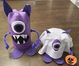 Monster Trick or Treat Pop Bottle Craft