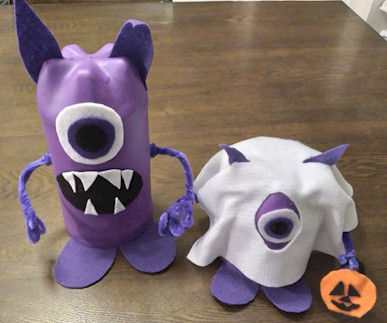 Monster Father and Son Trick or Treaters