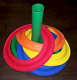 Toilet paper and Paper Plate Ring Toss Game