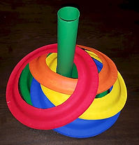 Paper Plate Ring Toss Rainbow