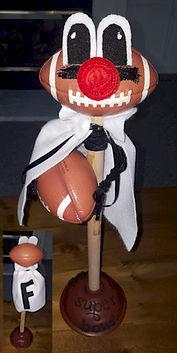 Football Plunger Mascot