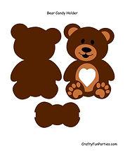 Bear Chocolate Candy Holder PDF