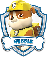 Paw Patrol Rubble with Name Clipart png