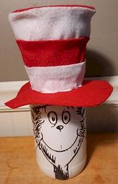 Cat In The Hat Glass Jar