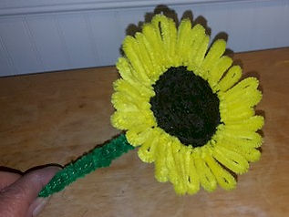 Pipe Cleaner Sunflower