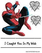 Spiderman Valentines Box PDF Clipart