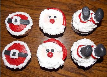 Santa Cupcakes Belt Face Feet