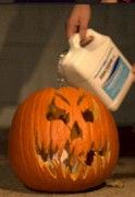 Flaming Pumpkin Soak With Kerosene