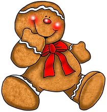 Gingerbread Man Clipart Sitting Clipart