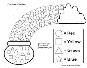 Shapes of the Rainbow Coloring Printable