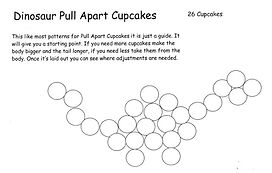 Pull Apart Dinosaur Cupcakes Pattern