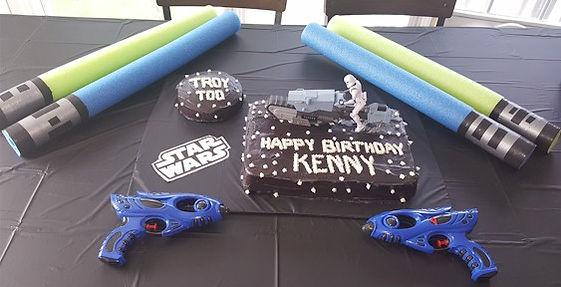 Storm Trooper Cake Centerpiece