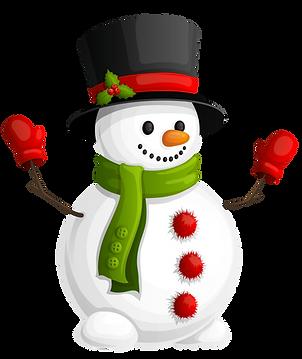 Snowman Green Scarf Clipart