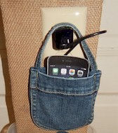 Old Denim Jeans Phone Charging Station