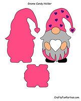 Gnome Candy Holder Pink PDF
