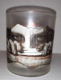 Halloween Decoupaged Candle Jar