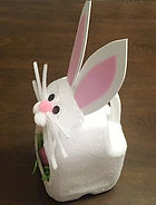 Easter Bunny Basket Milk Jug