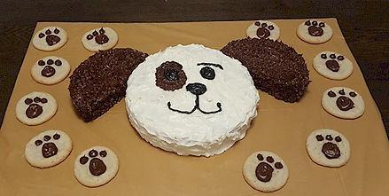 Dog Cake Paw Print Cookies