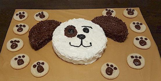 Dog Puppy Cake Paw Print Cookies