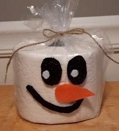 Toilet Paper Snowman