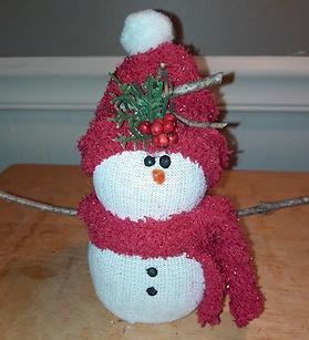 No Sew Snowman Embellished