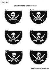 Kids Pirate Printable Eye Patches