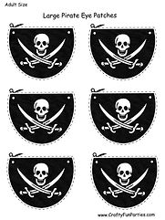 Adult Pirate Printable Eye Patches
