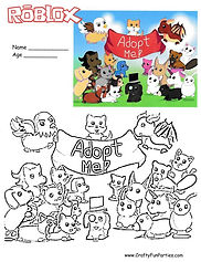 RoBlox Adopt Me Coloring Page