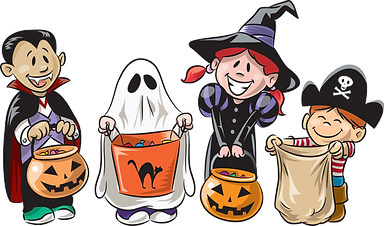 Trick Or Treaters Clipart