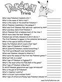 Pokemon Trivia