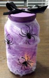 Spider Web Candle Jar