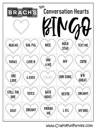 Brachs Conversation Heart Bingo
