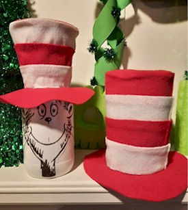 Cat In The Hat Glass Jar and Top Hat