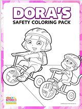 Dora Safety Coloring Book