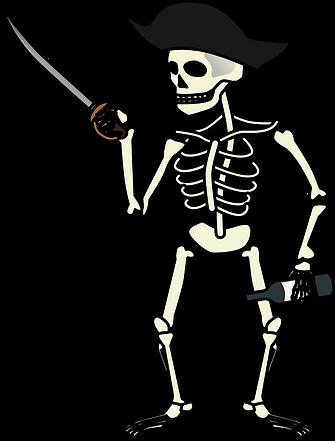 skeleton pirate clipart