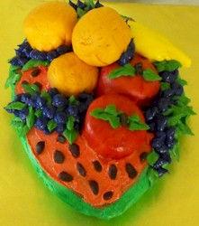 Fruitbowl Cake Watermelon Apples grapes Oranges