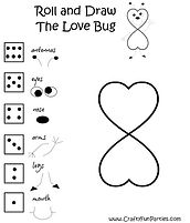 Roll and Draw The Love Bug Printable