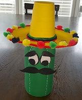 Pop bottle cactus man
