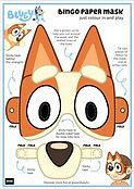 Bingo Paper Mask Printable
