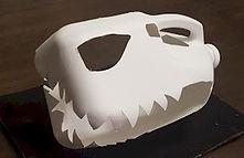 Dinosaur Skull Milk Jug Craft 2