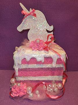 Unicorn Fake Bake Layered Cake